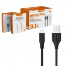 KABEL USB IPHONE 3.1A SOMOSTEL CZARNY 3100mAh QUICK CHARGER QC 3.0 1M POWERLINE SMS-BT09 ECL