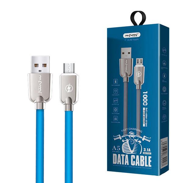KABEL USB MICRO 3,1A NAFUMI NIEBIESKI 3100mAh QUICK CHARGER QC 3.0 1M NFM-A5