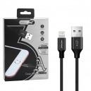 KABEL USB LIGHTNING 3A NAFUMI CZARNY 3000mAh QUICK CHARGER QC 3.0 2M IPHONE NFM-A2000