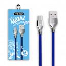 KABEL USB MICRO 3A NAFUMI NIEBIESKI 3000mAh QUICK CHARGER QC 3.0 1M METAL A11