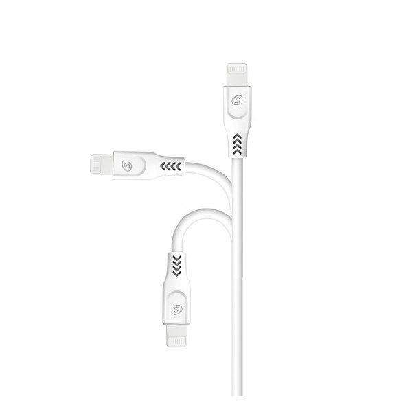 KABEL USB IPHONE 3.1A SOMOSTEL BIAŁY 3100mAh QUICK CHARGER QC 3.0 1.2M POWERLINE SMS-BT01 ECL