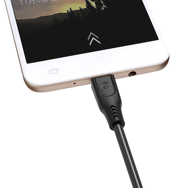 KABEL USB IPHONE 3.1A SOMOSTEL CZARNY 3100mAh QUICK CHARGER QC 3.0 1.2M POWERLINE SMS-BT01 ECL