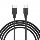 KABEL USB TYP-C TYP-C 3.1A SOMOSTEL CZARNY 3100mAh QUICK CHARGER QC 3.0 1.2M POWERLINE SMS-BT04 ECL PD