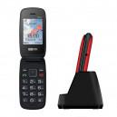 MAXCOM MM817 TELEFON CZERWONY Z KLAPKĄ