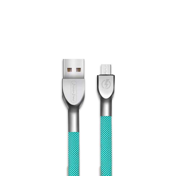 KABEL USB MICRO 3A NAFUMI MIĘTA 3000mAh QUICK CHARGER QC 3.0 1M METAL NFM-M28m