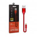 KABEL USB LIGHTNING 5A NAFUMI CZERWONY 5000mAh QUICK CHARGER QC 3.0 30CM IPHONE  NFM-A31