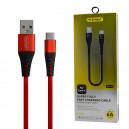 KABEL USB TYP-C 5A NAFUMI CZERWONY 5000mAh QUICK CHARGER QC 3.0 30CM NFM-A32