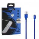 KABEL USB MICRO 3A NAFUMI NIEBIESKI 3000mAh QUICK CHARGER QC 3.0 2M NFM-A1000