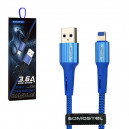 KABEL USB IPHONE 3.6A SOMOSTEL NIEBIESKI 3600mAh QUICK CHARGER QC 3.0 1M POWERLINE SMS-BW06