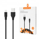 KABEL USB IPHONE 3.1A SOMOSTEL CZARNY 3100mAh QUICK CHARGER QC 3.0 3M POWERLINE SMS-BT03