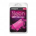 PENDRIVE INTEGRAL 64GB DRIVE NEON PINK USB 2.0  INFD64GBNEONPK