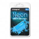 PENDRIVE INTEGRAL 16GB DRIVE NEON BLUE USB 2.0 INFD16GBNEONB