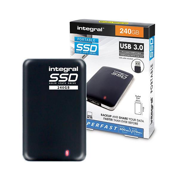 DYSK PRZENOŚNY SSD INTEGRAL 240GB 3.0 USB PORTABLE INSSD240GPORT3.0