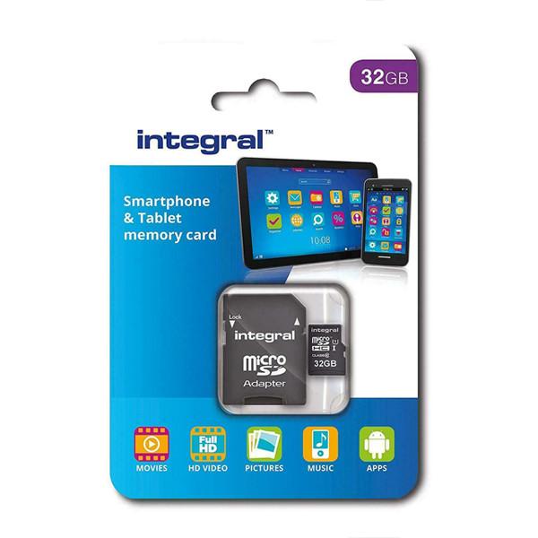 KARTA PAMIĘCI INTEGRAL 32GB + ADAPTER CLASS 10 UHS-I micro SDXC INMSDH32G10-90SPTAB TABLET&SMARTPHONES