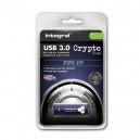 PENDRIVE INTEGRAL 16GB SZYFROWANY USB 3.0 FIPS197 INFD16GCRYDL3.0197