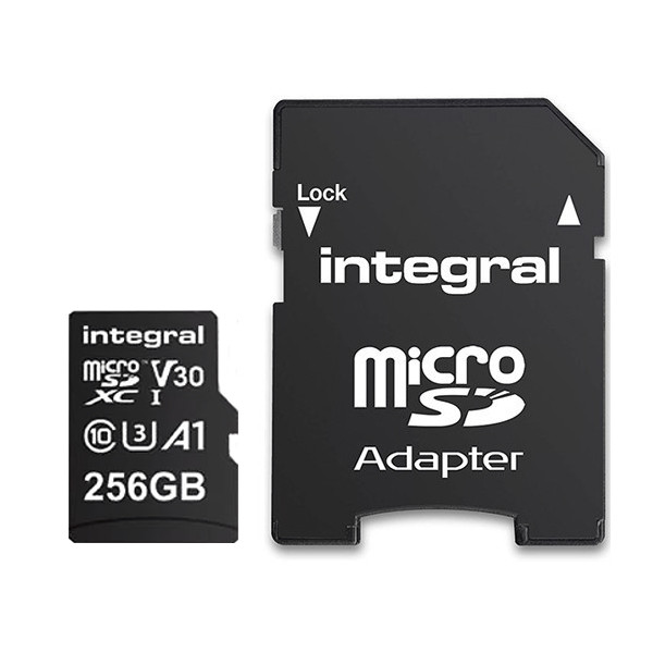 KARTA PAMIĘCI INTEGRAL 256GB + ADAPTER PREMIUM HIGH SPEED MICROSDHC/XC 100V30 UHS-I U3 INMSDX256G-100V30