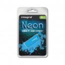 PENDRIVE INTEGRAL 8GB DRIVE NEON NIEBIESKI BLUE USB 2.0