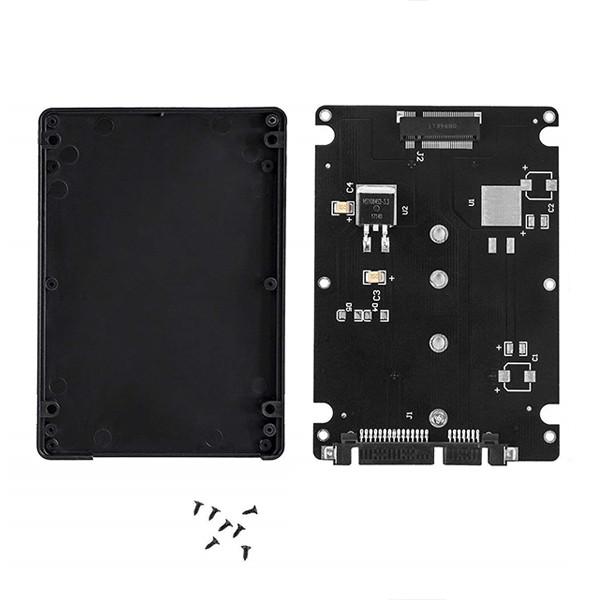 ADAPTER DYSKU HDD M.2 NGFF DO SSD + OBUDOWA DYSKU M2