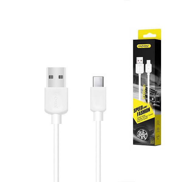KABEL USB TYP-C NAFUMI BIAŁY 1M NFM-003
