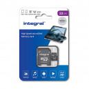 KARTA PAMIĘCI INTEGRAL 32GB + ADAPTER CLASS 10 UHS-I micro SDXC 100MB/s READ U1 V10 INMSDH32G-100V10