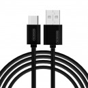 KABEL USB TYP-C 3A SOMOSTEL CZARNY 3100mAh QUICK CHARGER 1.2M POWERLINE SMS-BP02 BLACK