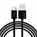 KABEL USB MICRO 3A SOMOSTEL CZARNY 3100mAh QUICK CHARGER 1.2M POWERLINE SMS-BP02 BLACK