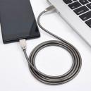 KABEL USB IPHONE 2.4A SOMOSTEL SREBRNY 2400mAh QUICK CHARGER QC 3.0 1M POWERLINE SMS-BJ01 METAL
