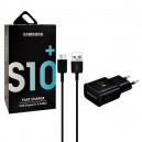 ŁADOWARKA SIECIOWA USB TYP-C 2A CZARNA SAMSUNG EP-TA200 + DG970 FAST CHARGING 2000mAh QUICK RETALI BOX
