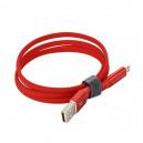 KABEL USB TYP-C 2.0A SOMOSTEL CZERWONY 2400mAh QUICK CHARGER QC 3.0 1M POWERLINE SMS-BW04 BLACK USB-C
