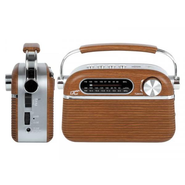 RADIO PRZENOŚNE LTC NIDA BT AM FM MP3 USB SD 2000mAh