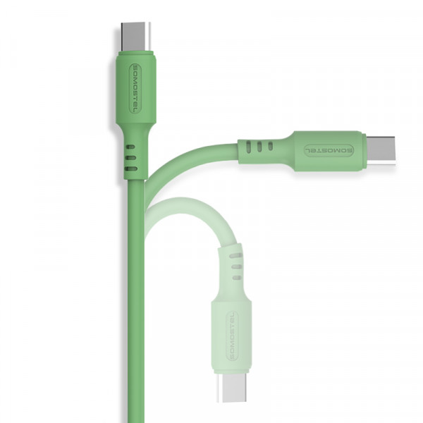KABEL USB IPHONE 3A SOMOSTEL ZIELONY 3100mAh QUICK CHARGER 1.2M POWERLINE SMS-BP06 MACARON