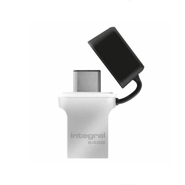 PENDRIVE INTEGRAL FUSION 64GB USB 3.0 DRIVE TYP-C USB-C INFD64GBFUS3.0-C