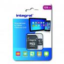 KARTA PAMIĘCI INTEGRAL 128GB + ADAPTER PREMIUM HIGH SPEED INMSDX128G10-80SPTAB 43-20-93