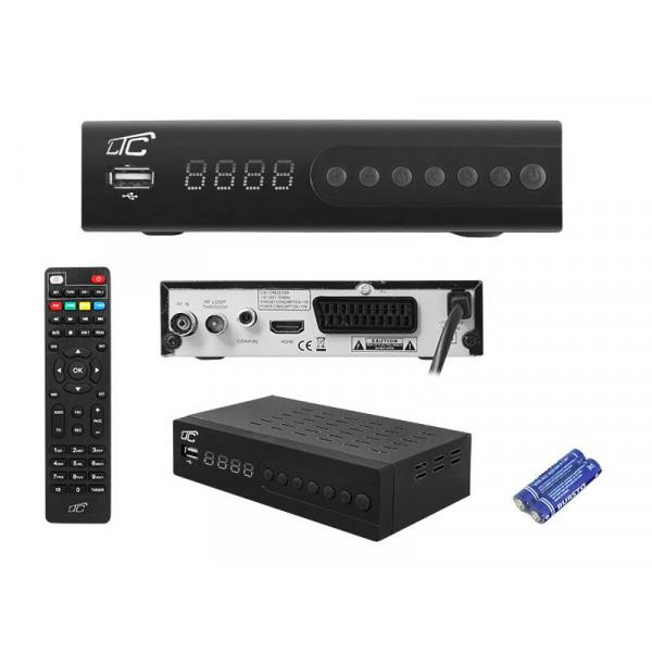 TUNER DVB-T-2 HD LTC T104 + PILOT PROGRAOWALNY H.265 TV NAZIEMNA