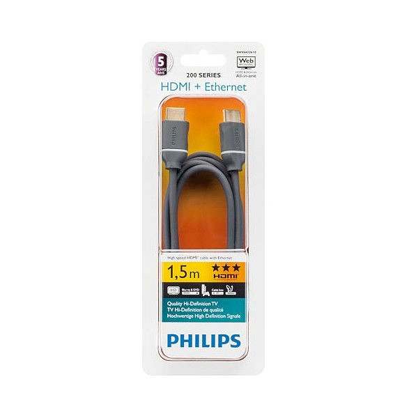 KABEL HDMI-HDMI 1,5M PHILIPS ULTRA HD + ETHERNET Phil-SWV4432S/10