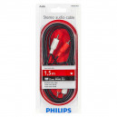 KABEL STEREO 1,5M PHILIPS CHINCH RCA DO RCA