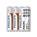 BATERIA PHILIPS AAA LR03 LONGLIFE BLISTER 4SZT BATERIE POWER ALKALINE Phil-R03L4F/10
