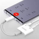 ADAPTER HF TYP-C SOMOSTEL BIAŁY SMS-BZ06 AUDIO USB-C + ZASILANIE