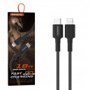 KABEL USB IPHONE 3.6A SOMOSTEL CZARNY 18W 1M POWER DELIVERY SMS-BW05 PD TYPC-IPH red