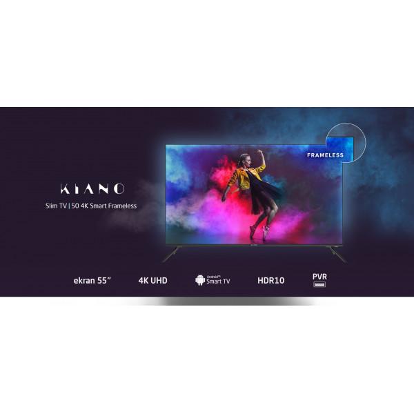 TELEWIZOR KIANO SLIM TV 58 CALI ULTRA HD DLED 4K SMART TV