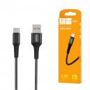 KABEL USB TYP-C DENMEN CZARNY 1M D02T