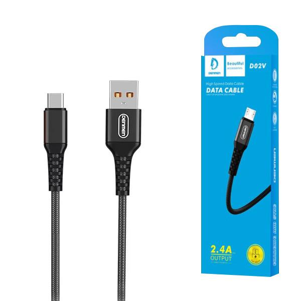 KABEL USB MICRO DENMEN CZARNY1M D02V
