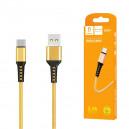 KABEL USB TYP-C DENMEN ZŁOTY 1M D02T