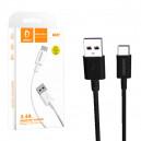 KABEL USB TYP-C DENMEN CZARNY 1M 5,4A D12T