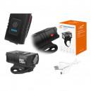 LATARKA ROWEROWA LTC 2 X LED T6 10 W, AKUMULATOR 1200 MAH, MICRO USB 5 V, CZARNA