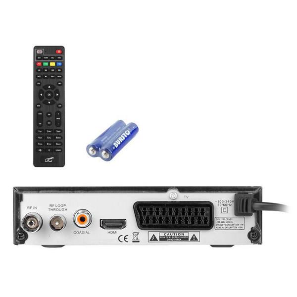 TUNER DVB-T-2 LTC TV NAZIEMNEJ HDT202 Z PILOTEM PROGRAMOWALNYM H.265 LXHDT202