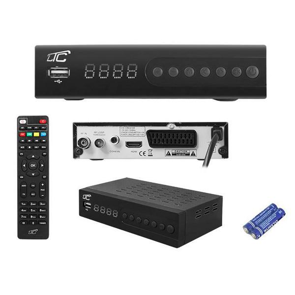 TUNER DVB-T-2 LTC TV NAZIEMNEJ HDT204 Z PILOTEM PROGRAMOWALNYM H.265 LXHDT204