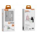 ŁADOWARKA SIECIOWA 30W + KABEL TYP-C CZARNA SOMOSTEL POWER DELIVERY SMSQ13 USB + PD