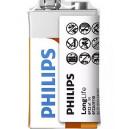 BATERIA PHILIPS 9V LONGLIFE FOLIA POWER ALKALINE Phil-6F22L1F/10