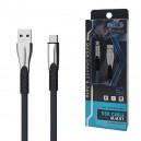 KABEL USB TYP-C 2.4A  NIEBIESKI 2400mAh QUICK CHARGER QC 3.0 1M POWERLINE BW02